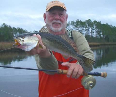 NC Speckled Trout on Fly