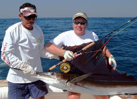 Nat Harris Sailfish on Fly