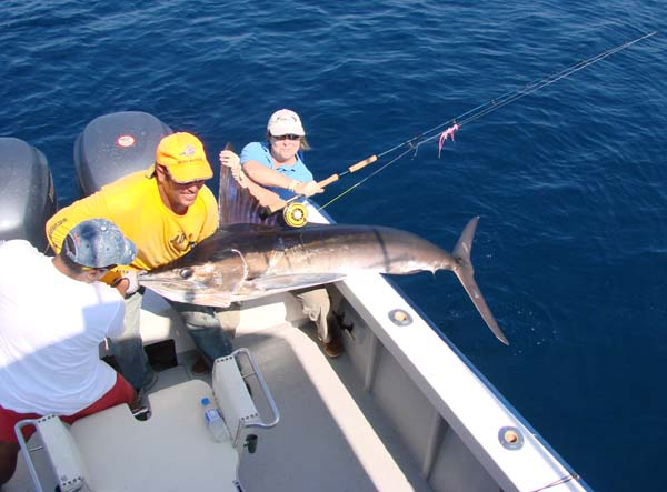 World Record Marlin on fly
